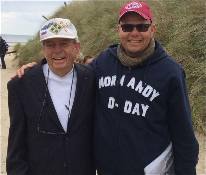 Jack Port 4th Inf. Div and me at Utah beach